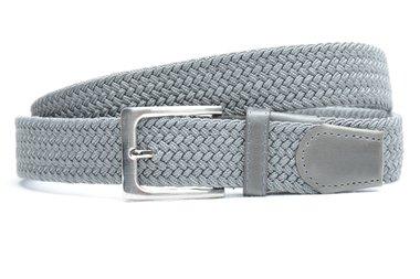 3,5 cm grijze elastische riem 63007