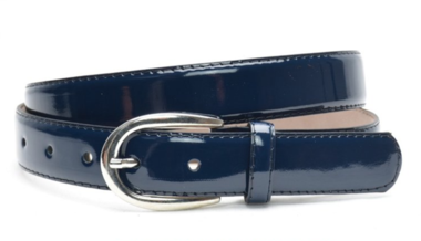 3cm blauwe lakriem - donkerblauwe damesriem in lakleder bllak300am