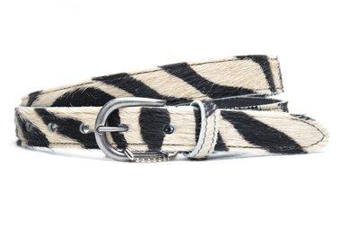 2,5 cm dames riem zebra 250
