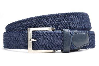 3,5 cm blauwe elastische riem TBe
