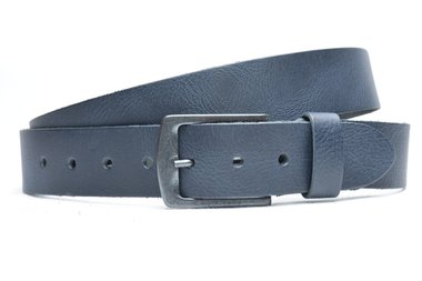 4 cm blauwe jeans riem 64080