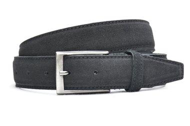 3,5 cm suède riem zwart 550