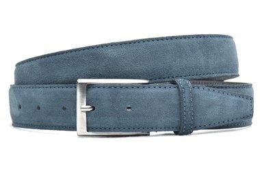 3,5 cm suède riem blauw 550