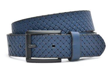 4cm blauwe riem vlecht 40602