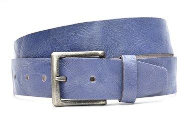 4,5 cm blauwe jeans riem 418
