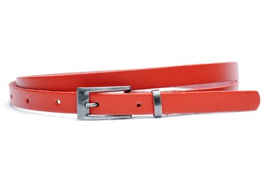 1,5 cm smalle riem rood 435