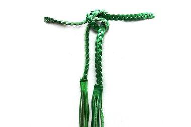 gevlochten riem groen 0381