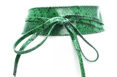 8cm knoopriem groen snake