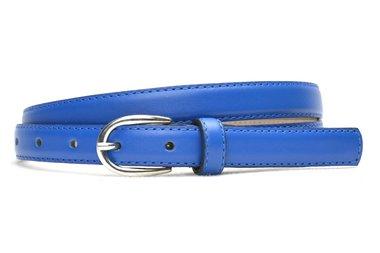 2cm smalle riem kobaltblauw 200am