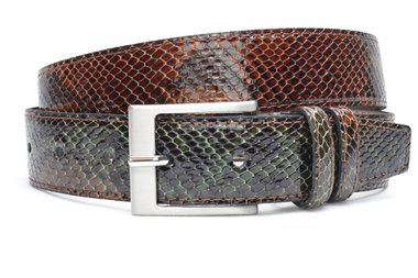 4cm bruin/groene riem snake 400sn