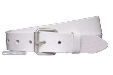 4cm witte riem - jeans riem wit wi402