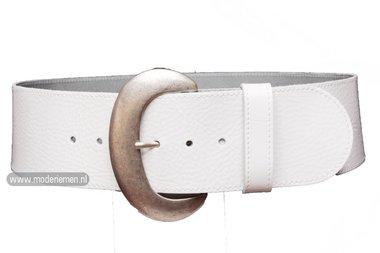 8cm brede dames riem wit wi801