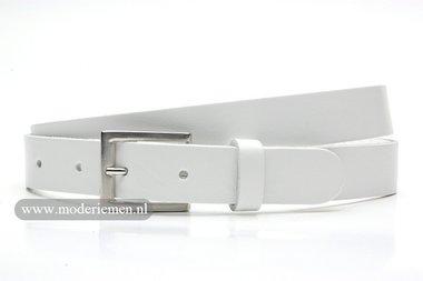 3cm witte riem - witte pantalon riem wi307