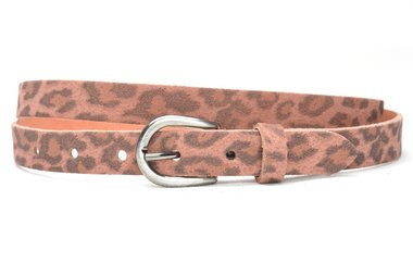 2cm dames riem panter rose