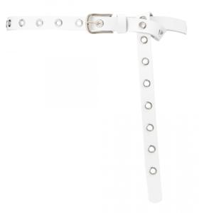 2 cm lange witte riem zilver 20938