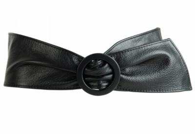 9 cm tailleriem zwart 10038