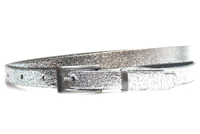 1,5 cm smalle riem zilver 435