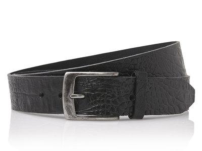 4 cm zwarte riem 40628