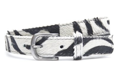 3 cm dames riem zebra 30254