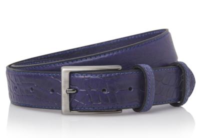 3,5 cm blauwe pantalon riem croco 35577