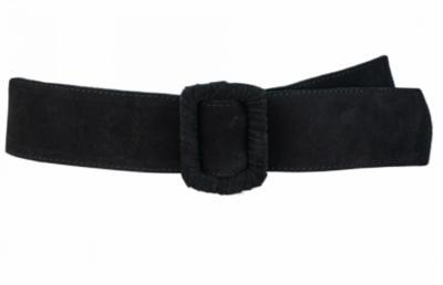 6 cm tailleriem zwart 60689