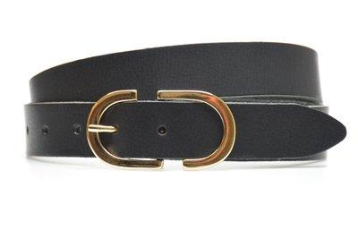 3 cm zwarte dames riem 3030