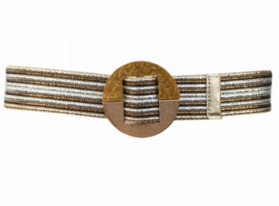5 cm tailleriem goud/zilver LP9766