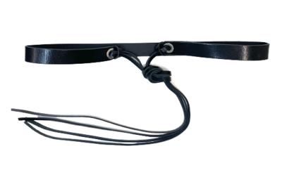 2 cm knoopriem zwart 20977