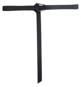 3cm lange zwarte riem 2642