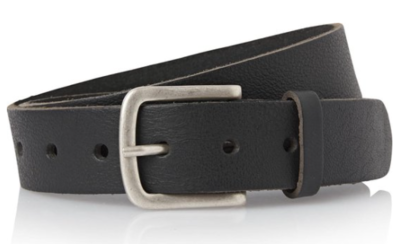 3,5 cm volnerf leren jeans riem zwart 35001