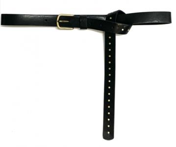 2,5 cm zwarte jeansriem met studs 2542