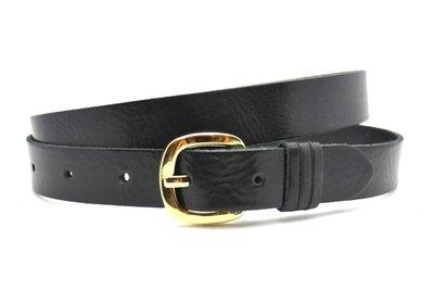 2,5 cm dames riem zwart 25285