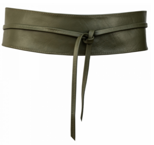 8 cm brede dames riem Khaki Unleaded