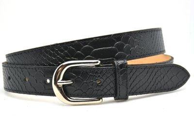 3cm dames riem python zwart 30943