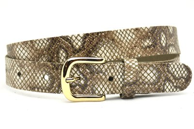 3cm dames riem snake bruin 30915