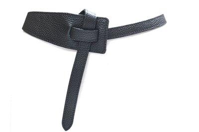 6 cm knoopriem zwart 800035