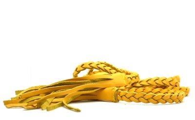 gevlochten riem geel 0381-1