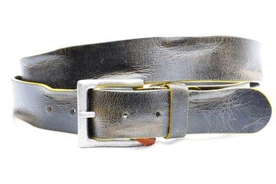 timbelt riem grijs bruin met gele zijkanten