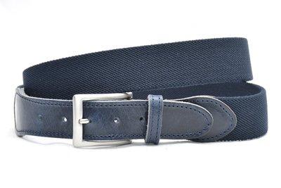 blauwe elastische riem
