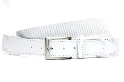witte elastische riem