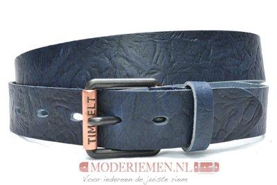 4cm blauwe jeans riem - vintage riem blauw Timbelt bl489