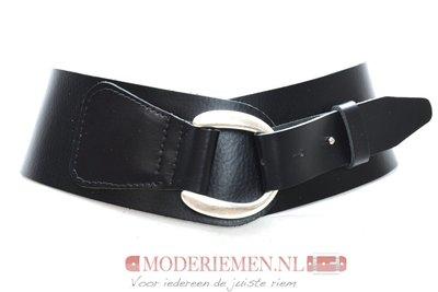 8cm zwarte heupriem - brede dames riem zwart zw8140