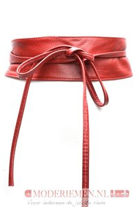 8 cm brede dames riem rood Unleaded