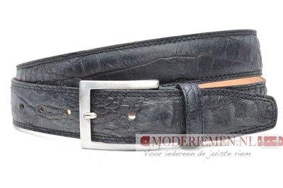3,5cm zwarte pantalon riem croco - zwarte riem van volnerf leder Timbelt zw510nb