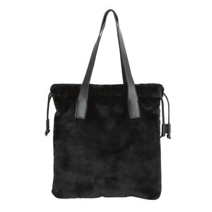 "Tas ""LOVELY FAKE FUR SHOPPER"" zwart"