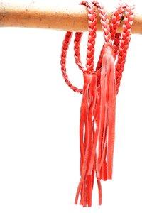 gevlochten riem rood 0381