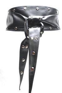 10 cm brede knoopriem zwart 10037