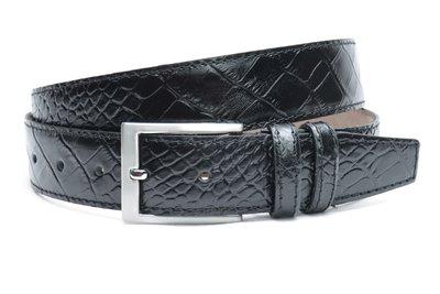 3,5 cm zwarte riem croco 350cr