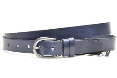 2,5 cm blauwe riem 25493