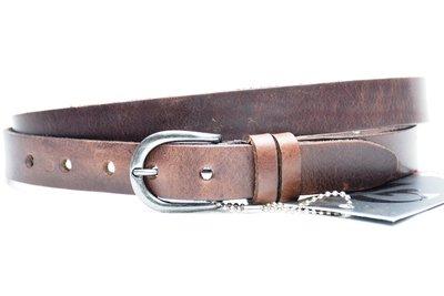 2,5 cm bruine riem 25493